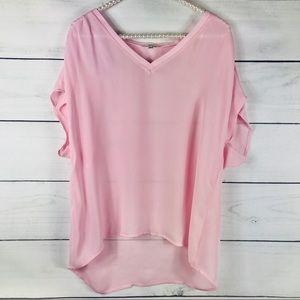 JOIE | V-neck Sheer Blouse Large Top-907